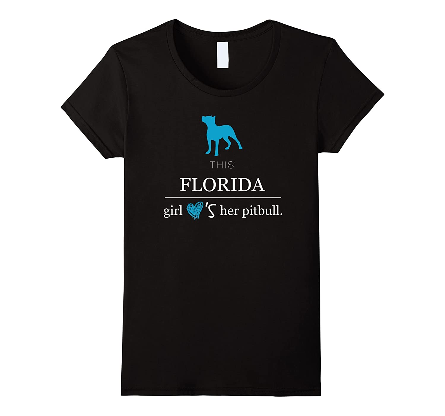 Florida T-Shirt This Florida Girl Loves Her Pitbull Shirt-Teevkd