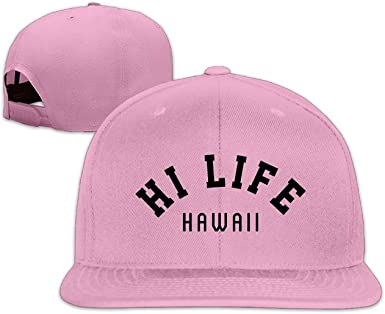 Hawaii Hi Life Design Snapback Hip Hop Flat Bill Baseball Caps for Men Women