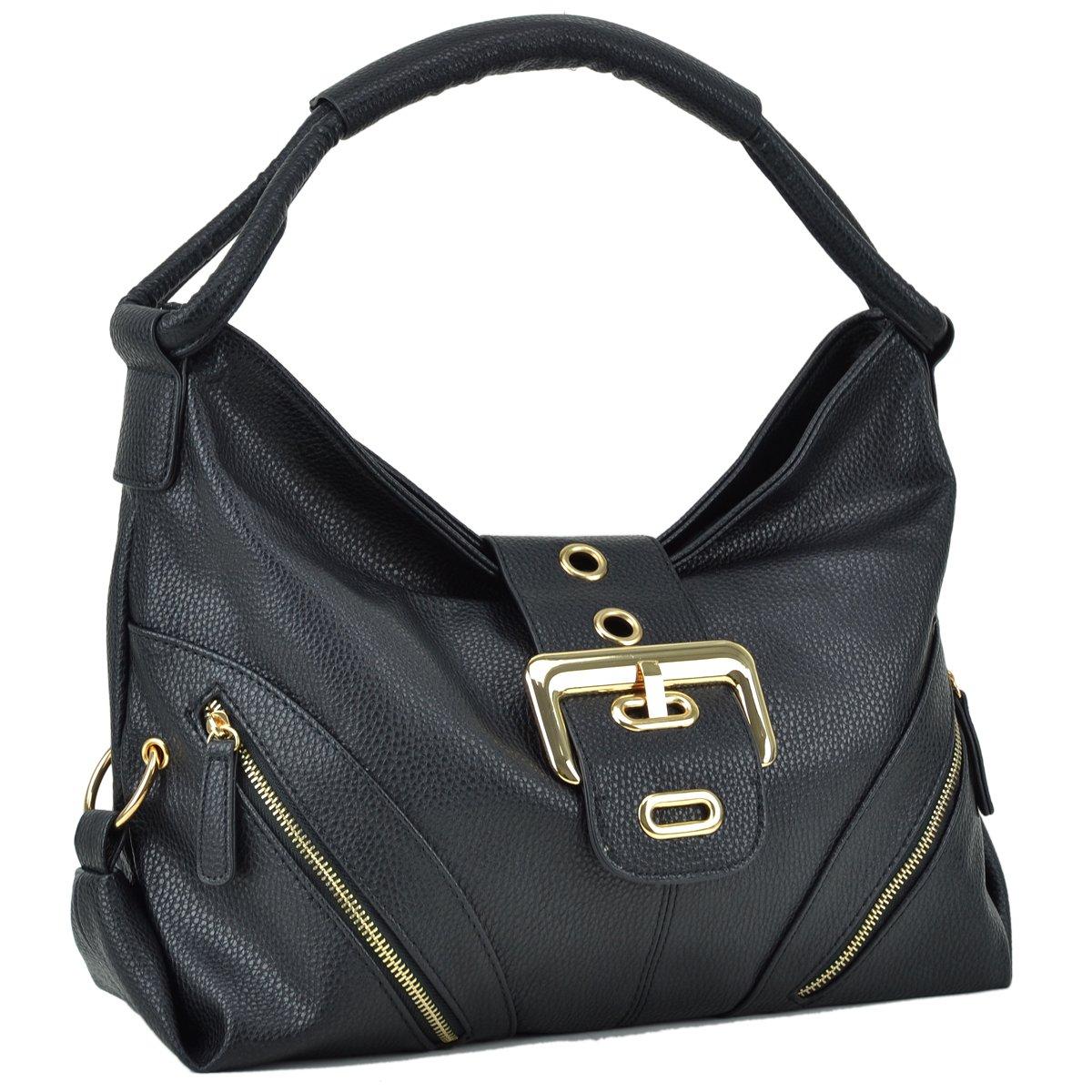 Dasein Womens Shoulder Bag Buckled Flap Handbag for Woman Top Handle Purse Designer Fashion Hobo Bag