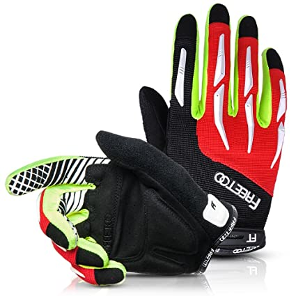 [Cycling Gloves] FREETOO Full Finger Cycling Gloves Riding Gloves/Bike Gloves/Mountain Bike Gloves- Breathable, Elastic and Protective Men/Women Work Gloves
