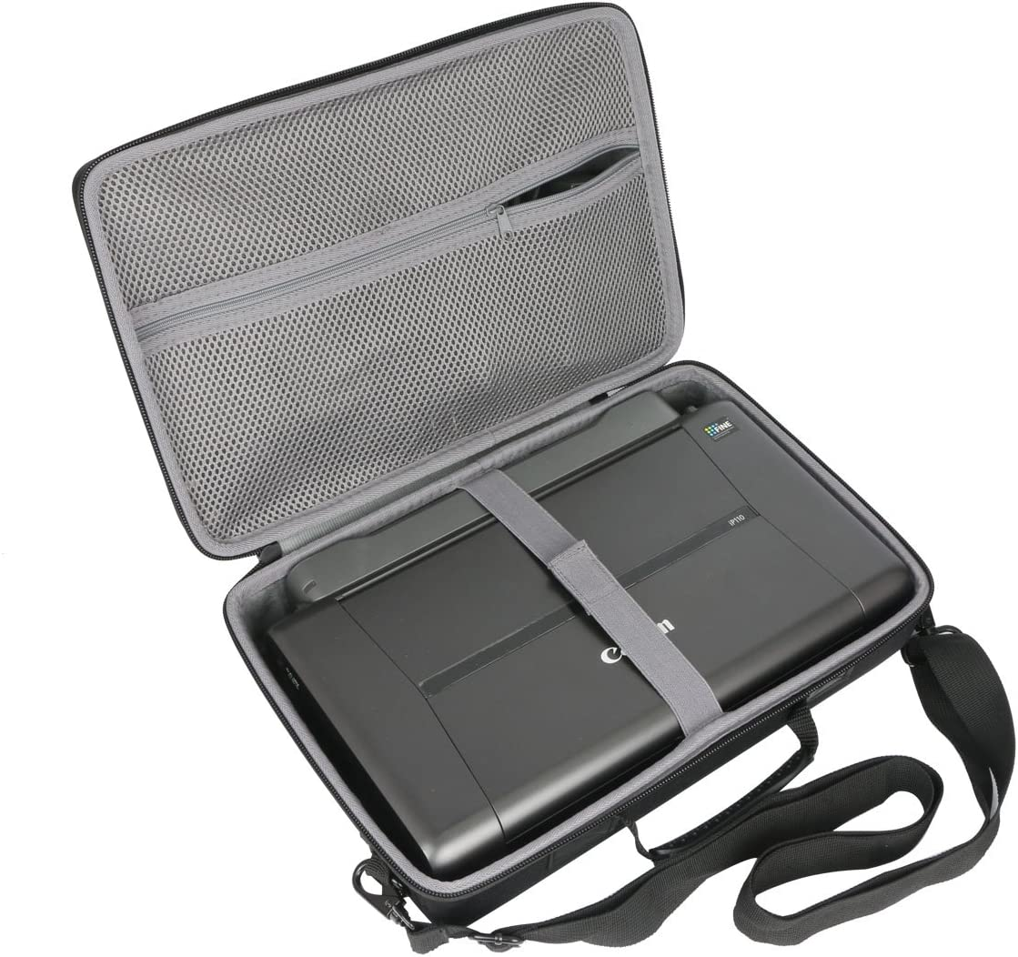 co2crea Hard Travel Case for Canon PIXMA TR150 / iP110 Wireless Mobile Printer (Size 2)