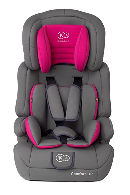 Kinderkraft Comfort Up Silla De Coche Grupo 1 2 3 Rosa Amazon Es