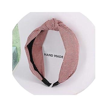 Amazon.com: bb-4 moda lazo nudo a cuadros cinta para el pelo ...