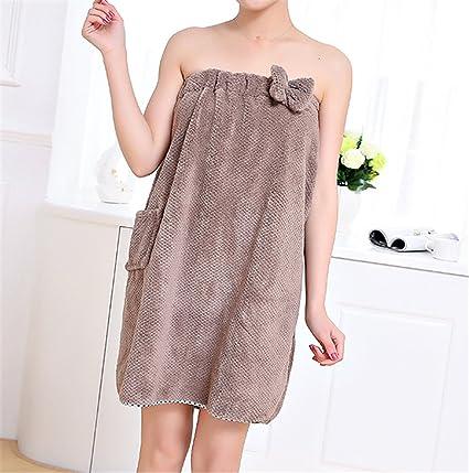 Llevar sujetador falda traje adulto Cap super absorbente toalla de baño toalla de algodón envuelto pecho