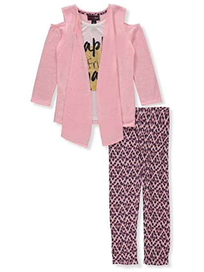 66ea3c86f890c Amazon.com: Dream Star Little Girls' Toddler 2-Piece Leggings Set Outfit -  Coral, 2t: Clothing