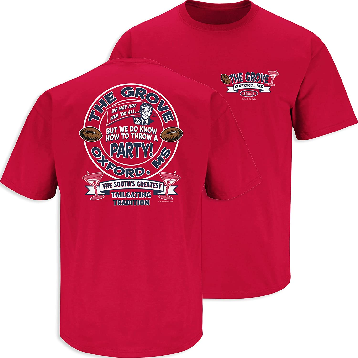 The Grove The Souths Greatest Tailgating Tradition T- Shirt Sm-5X Smack Apparel Ole Miss Football Fans