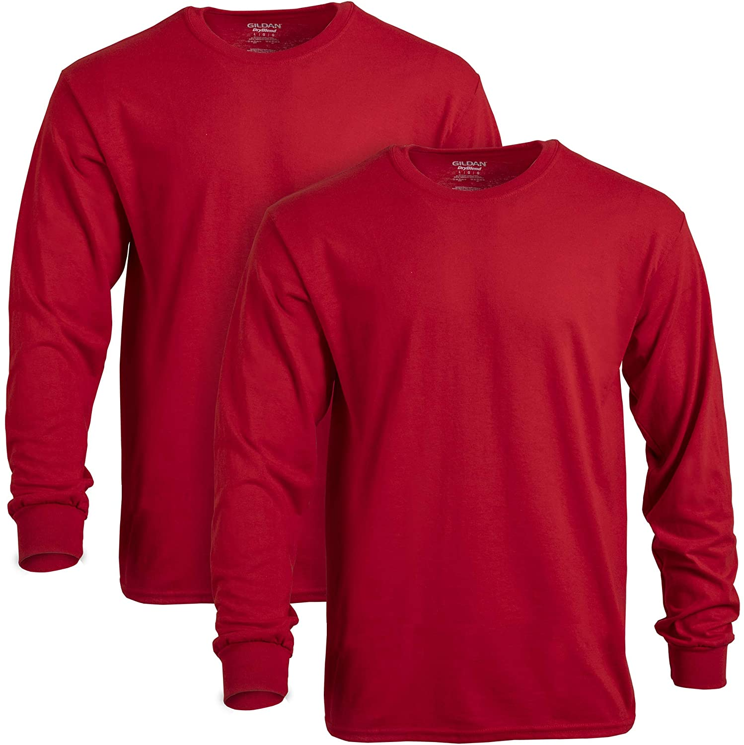Gildan Men's DryBlend Long Sleeve T-Shirt, Style G8400, 2-Pack