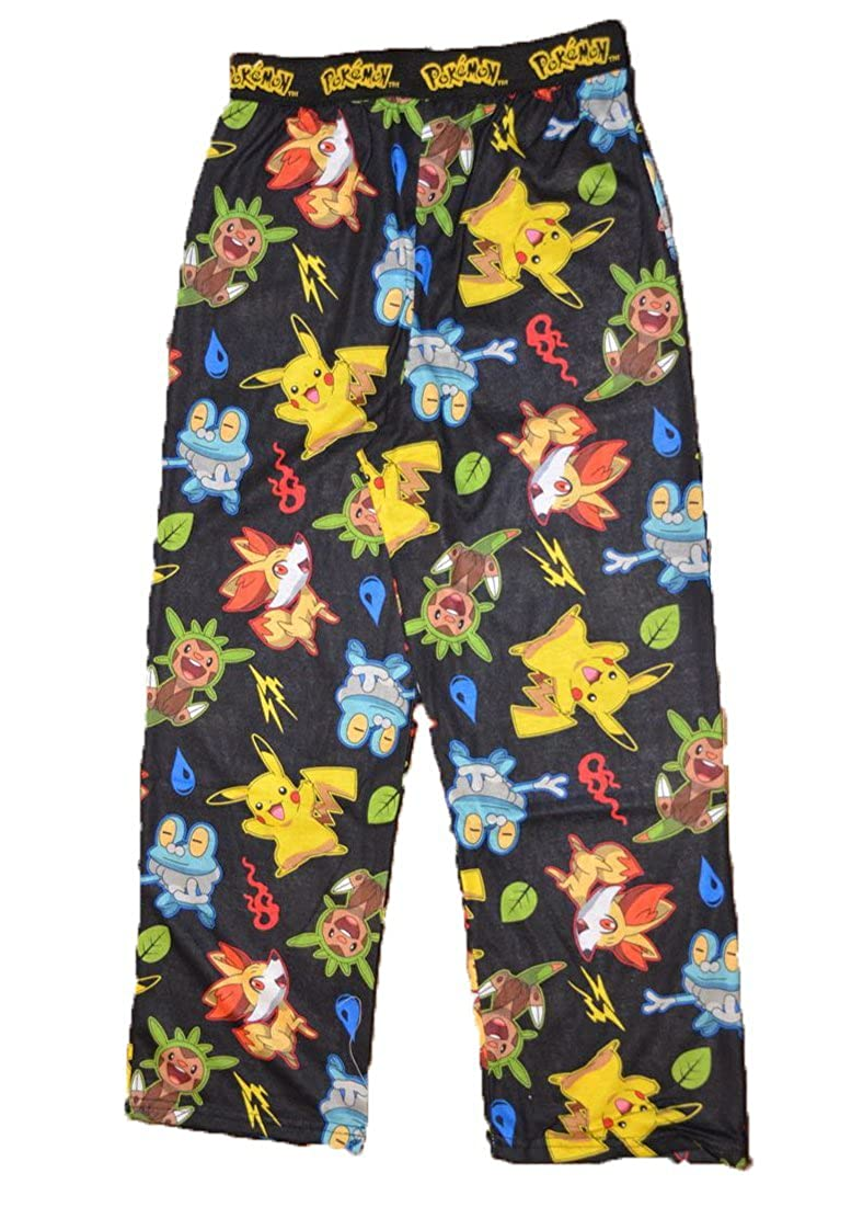 Pokemon Pikachu Big Boys Pajama Lounge Pant