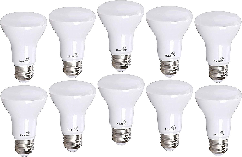 50W Replacement Medium Base 2700K Soft White Dimmable 4-Pack BR20 LED Bulb 7-Watt Indoor Flood LED Light Bulb UL-Listed E26