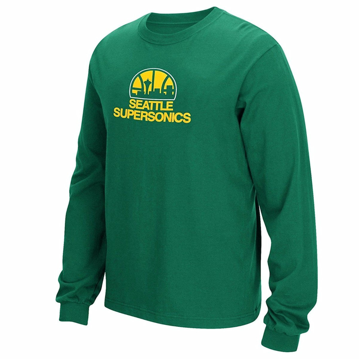 Amazon.com  Seattle Sonics Throwback Hardwood Classics Adidas Shirt  Sports    Outdoors c7ca74d97