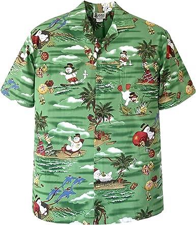 Aloha Republic Camisa Hawaiana de Navidad con diseño de ...
