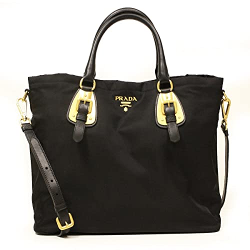 93176407b53a Prada BN1902 Nero Tessuto Black Nylon Convertible Top Handle Shopping Tote  Bag: Amazon.ca: Shoes & Handbags