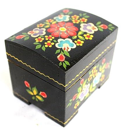 Cofre del tesoro madera pintada a mano cajas de belarus-one de un kind-
