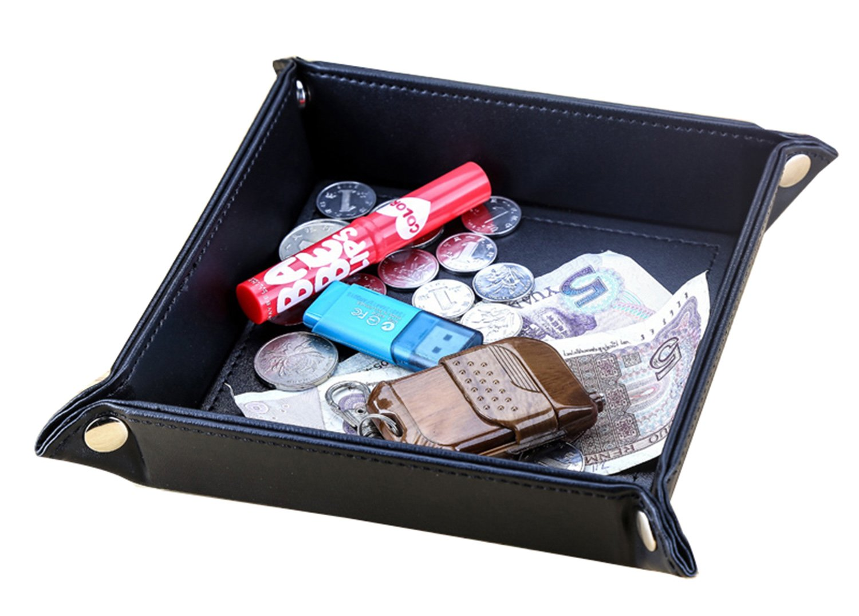 KINGFOM Vide-poches en cuir PU pour Monnaie Téléphone Clés