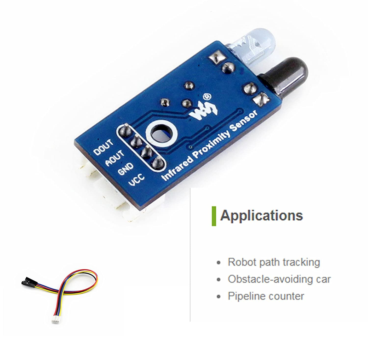 Infrared Proximity Sensor Ir Obstacle Beam Barrier As Well A Detector The Circuit Uses Avoidance Module For Arduino Smart Car Robot Detect Computers Accessories