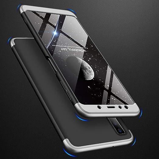 Funda Samsung Galaxy A7 (2018),Carcasa Galaxy A7 (2018),Funda 360 Grados Integral Para Ambas Caras+Cristal Templado,[360°]3 in 1 Slim Fit Dactilares ...
