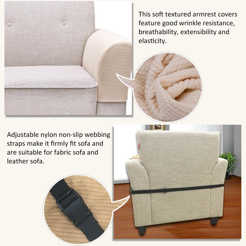 Amazon.com: Prom Near Armrest Covers Stretch Sofa Armrest Covers Anti Slip  Fabric Furniture Armrest Cover Stain Proof Stretch Armrest Covers  Stretchable ...