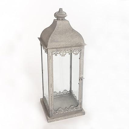 Antyki24 Shabby Chic Lanterne lámpara de pie candelabro Portavelas antiguo, pequeño