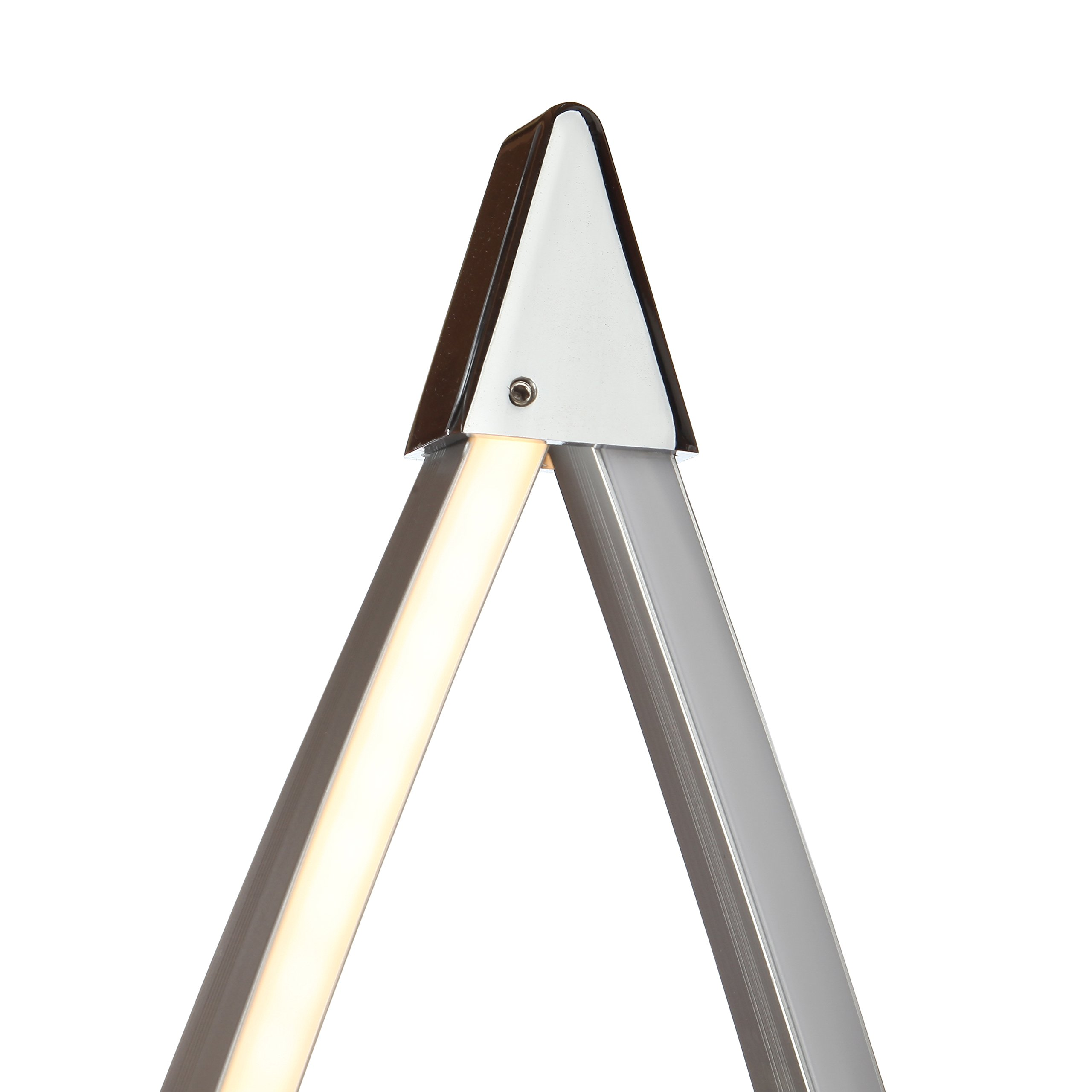 Brightech Twist - Modern LED Living Room Floor Lamp - Bright Contemporary Standing Light - Built in Dimmer Switch with 3 Brightness Settings - Cool, Futuristic Lighting - Silver by Brightech (Image #2)