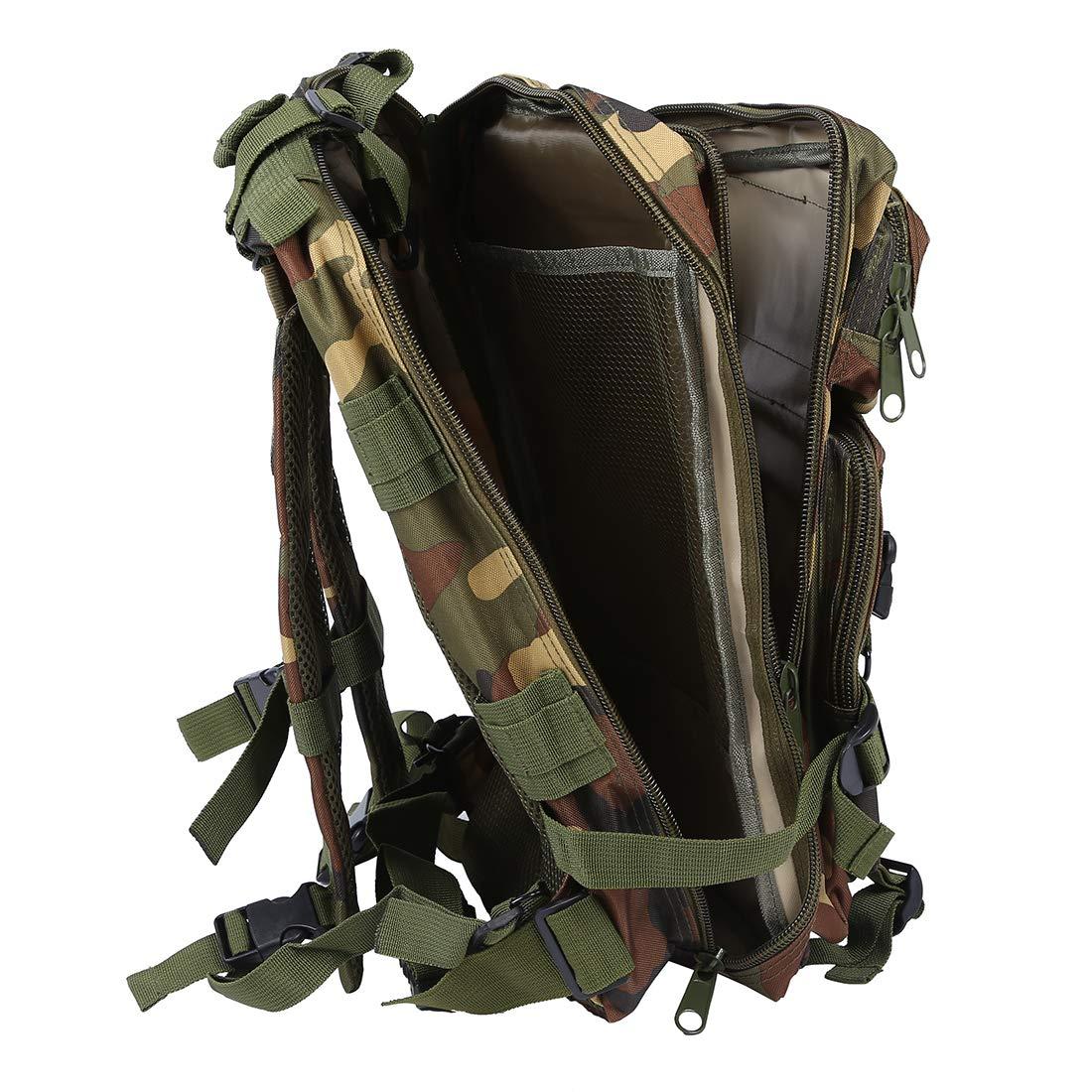 Camuflaje de Selva SODIAL R Mochila Deportivo Exterior Militar 30L para Campamento Excursionismo