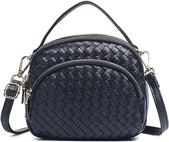 Weaving Bag Cassette Bag Real Leather Crossbody Shoulder purse Chritsmas Gift