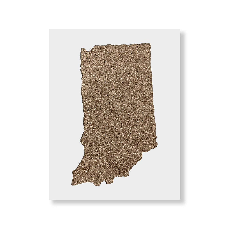 Indiana Stateステンシルテンプレート – 再利用可能なステンシルwith複数サイズあり 55