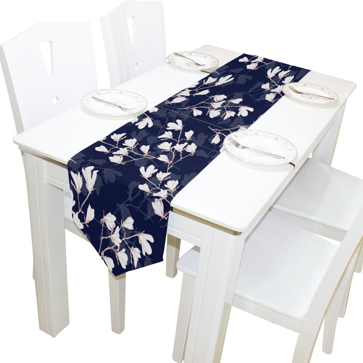Fantastic Amazon Com Alaza Table Runner Home Decor Vintage Navy Gmtry Best Dining Table And Chair Ideas Images Gmtryco