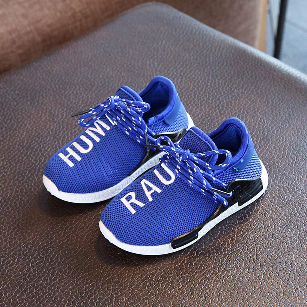 QinMM Enfants B/éb/é Enfant Filles Gar/çons Maille Lettre Running Sport Sneaker Chaussures Casual Lettres pour Enfants C11 battant Baskets en Mesh tiss/é Chaussures