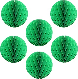"""product image for 12"""" Honeycomb Tissue Paper Ball Decoration (6-Pack, Green)"""