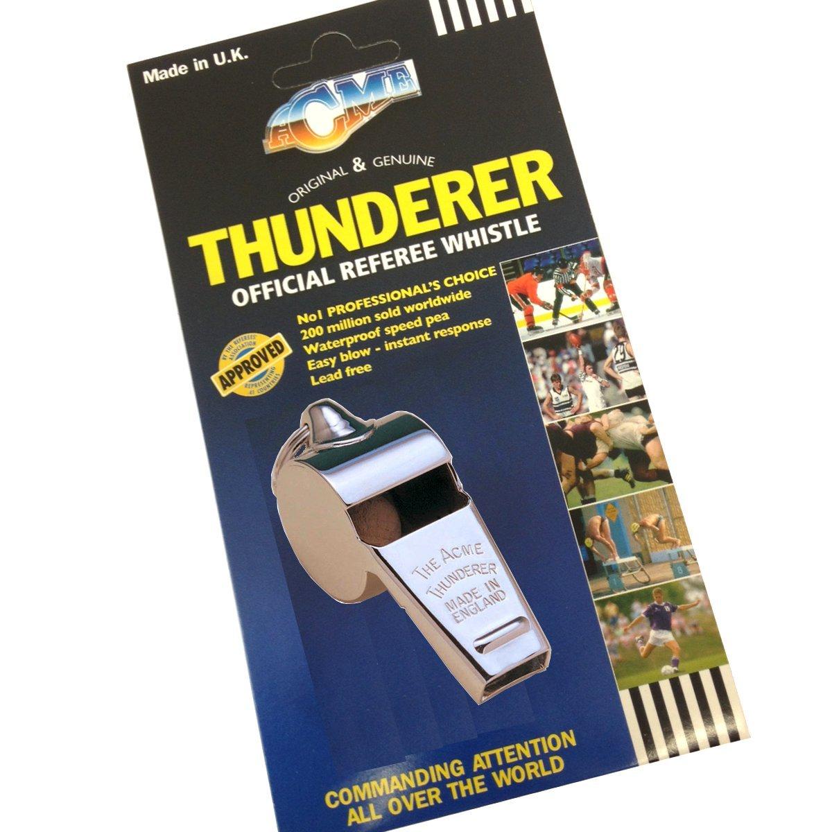 Acme Thunderer 60.5 Official Referee whistle - football hockey rugby referee whistle by Thunderer