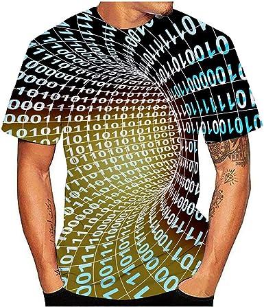 Rabbiter Hombres Verano Nueva Camiseta Impresa en 3D Completa Talla Grande S-3XL Blusa Superior con Estampado Fresco: Amazon.es: Ropa y accesorios