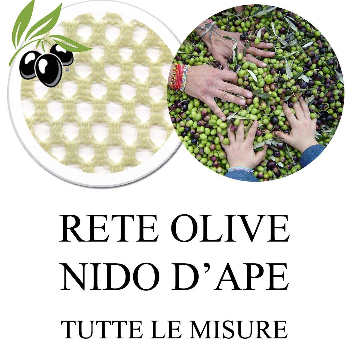 Rete Raccolta Olive Nido D'Ape 60gr/mq con Spacco Apertura 8x8 m Stock STI
