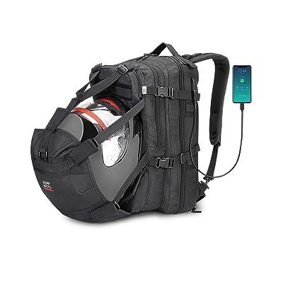 Helmet Backpack, Snowmobile Helmet Bag 37L Motorcycle Backpack Bag with USB-charge Port, Large Capacity Waterproof Helmet Holder Luggage Storage Bag Men for Riding Motorbike Outdoor: Automotive