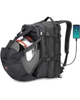 MC0010-Red MotoCentric motorcycle leather waterproof backpack laptop helmet bag