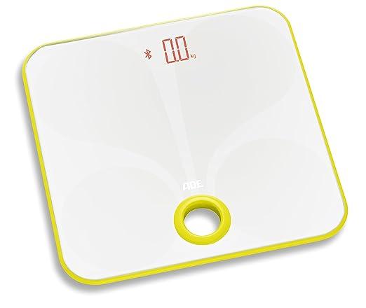 ADE Báscula de análisis corporal BA1602 FITvigo. Peso hasta 180kg. Indice de masa corporal y osea, agua. Excelente App. gratuita. Color Blanco y Amarillo: ...