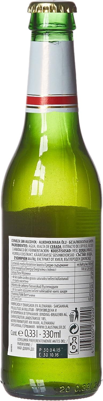 Clausthaler Cerveza s/alc. p-4 0.35º