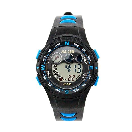 amstt Niños Relojes Reloj deportivo impermeable reloj digital LED Joven Chica electrónico reloj de pulsera para niños kindergesc Henk Azul: Amazon.es: ...