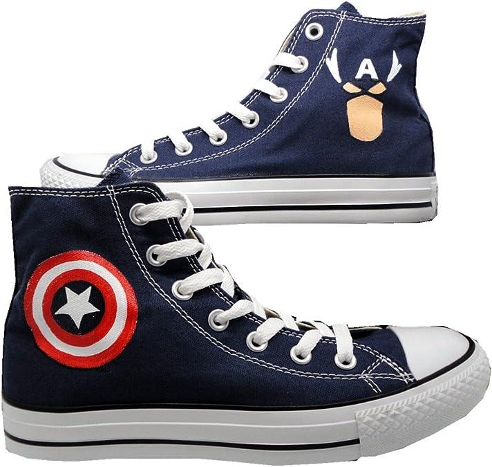Captain America Dc Comics Hi Top
