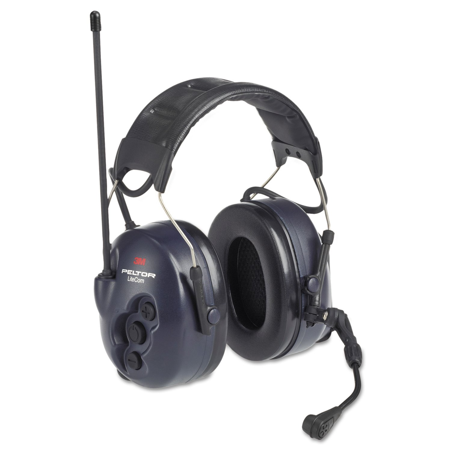 Image of 3M Personal Safety Division MT53H7A4600-NA Peltor LiteCom BRS Headsets, 26 DB NRR, Black, Over The Head, 464 - 467 MHz Safety Ear Muffs