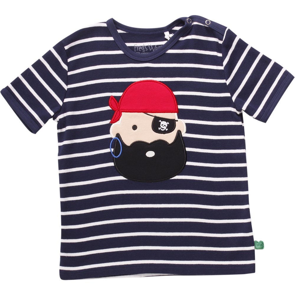 Fred's World by Green Cotton Unisex T-Shirt Sailor Stripe Pirate T Baby 1511039701