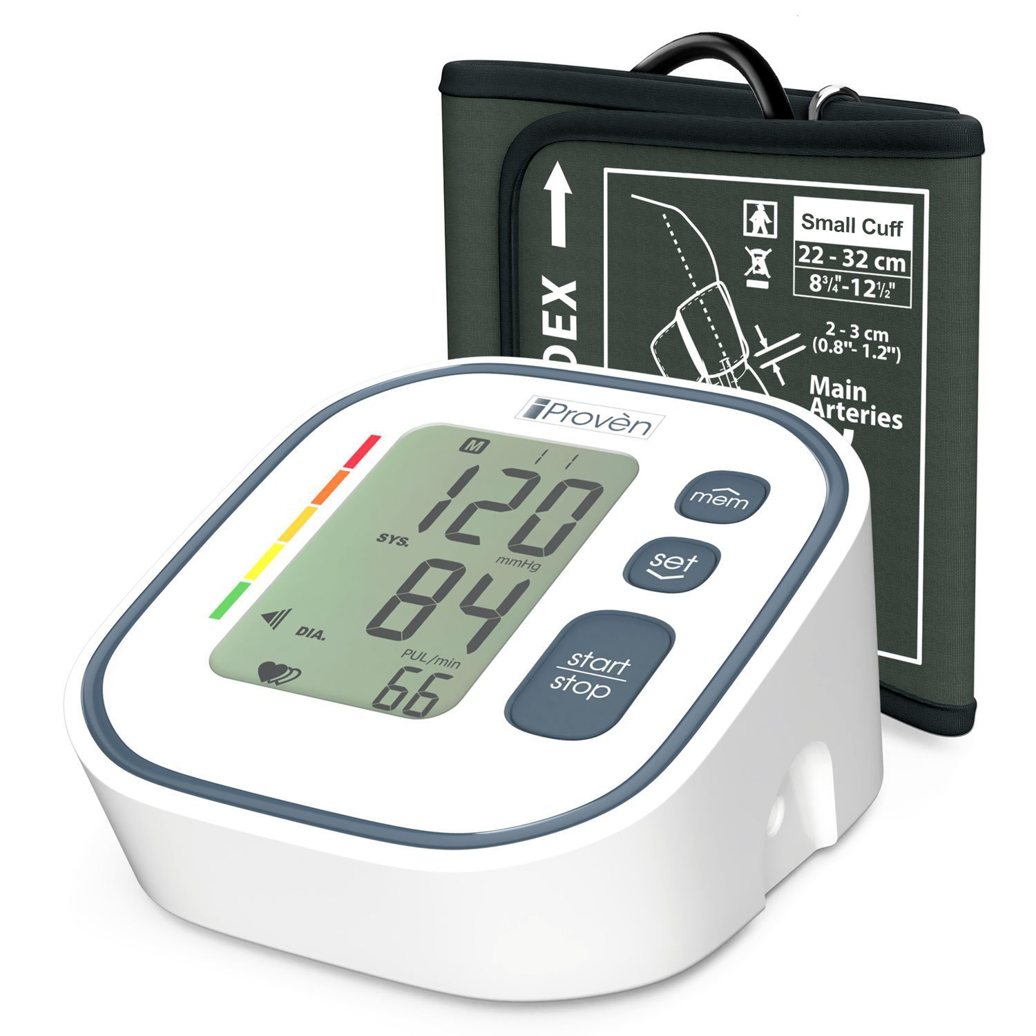 Digital Automatic Blood Pressure Monitor - Upper Arm Cuff (Medium Cuff) - Large Screen Display - Clinically Accurate & Fast Reading - FDA Approved - BPM-634 by iProvèn