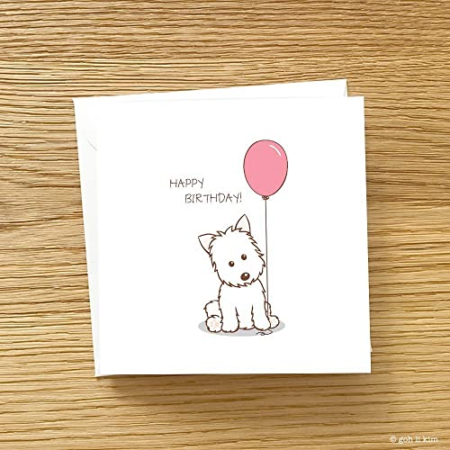 Westie Birthday Card West Highland Terrier Birthday Card Choose