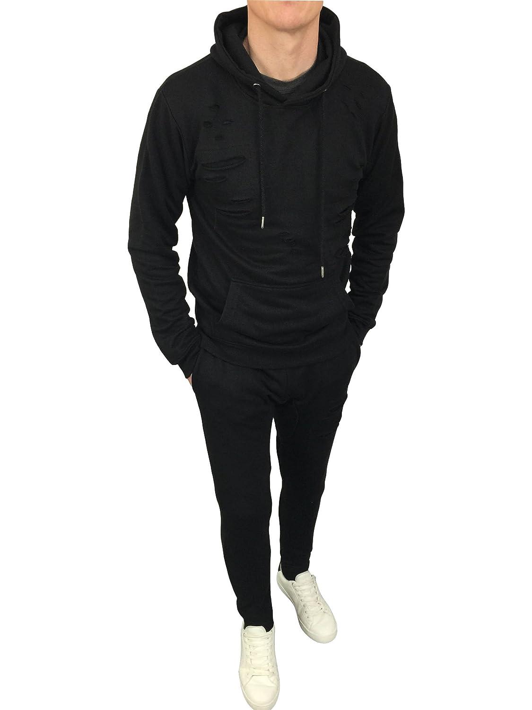 King Kouture - Chándal - para Hombre Negro Negro Medium: Amazon.es ...