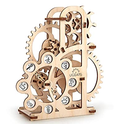 UGEARS Dynamometer - Mechanical Model Construction Kit 3D Wooden Puzzle for Self-Assembly Without Glue - Brainteaser for Kids, Teens and Adults: Toys & Games