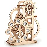 UGEARS Dynamometer - Mechanical Model Construction Kit 3D Wooden Puzzle for Self-Assembly Without Glue - Brainteaser for Kids