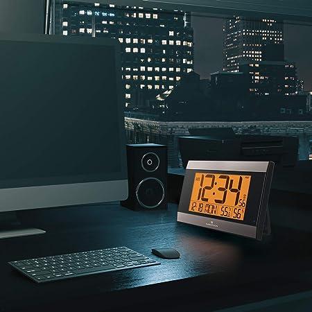 Maratón Digital Reloj de Pared con Temperatura y Humedad: Amazon.es: Hogar