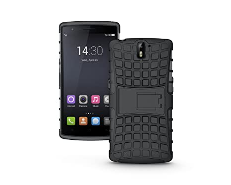 best value 6455b 0d7bd Theresastrading Kickstand Rugged Dual Layer Black Hybrid Case for OnePlus  One