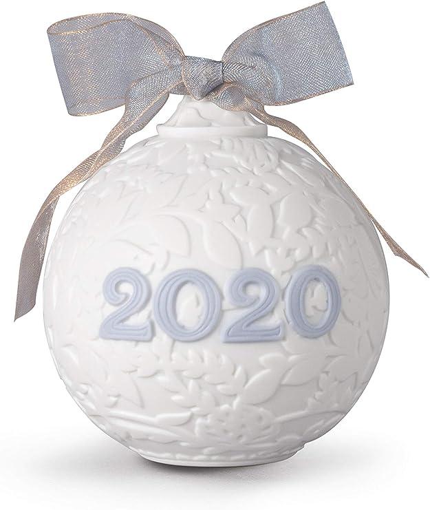 Amazon.com: LLADRÓ 2020 Christmas Ball. Porcelain Christmas Ball