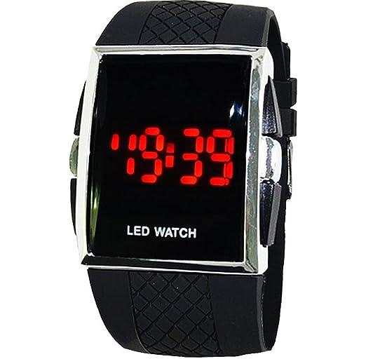El mundo de la moda de los hombres WANGSAURA Digital resistente al agua reloj LED reloj de pulsera reloj de los deportes de la fecha: Amazon.es: Relojes