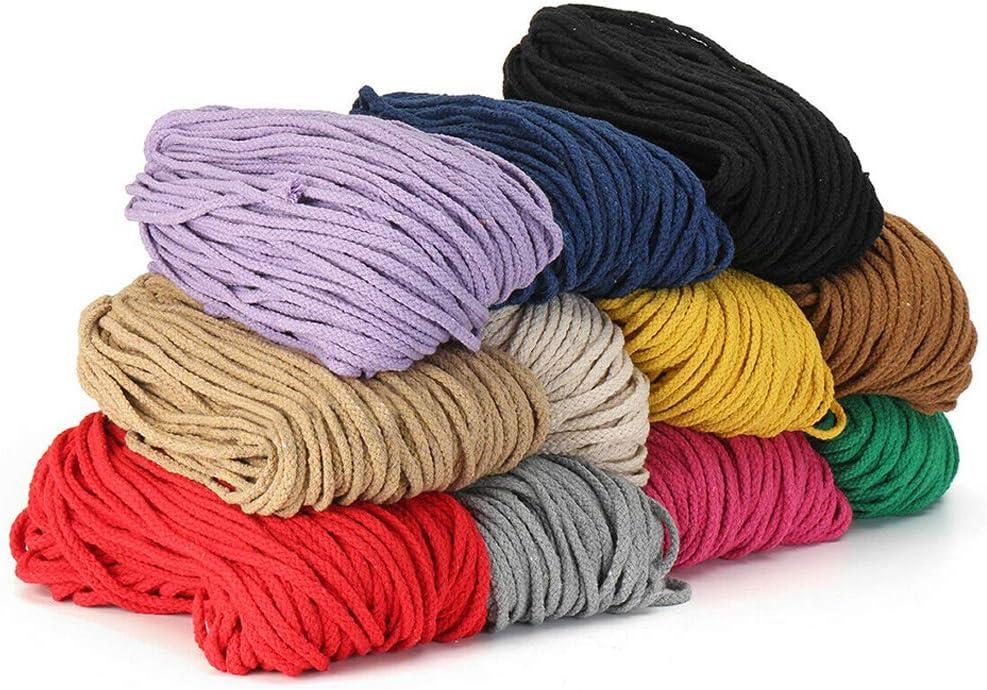 resistente para manualidades hecha a mano color 1# As Picture Show decoraci/ón trenzada 100 m cuerda de 5 mm Cuerda hecha a mano macram/é accesorios artesanales